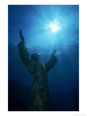 339415~Christ-of-the-Abyss-Statue-Pennekamp-State-Park-FL-Posters