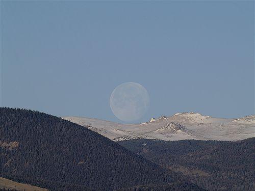 Perigee Moon Set