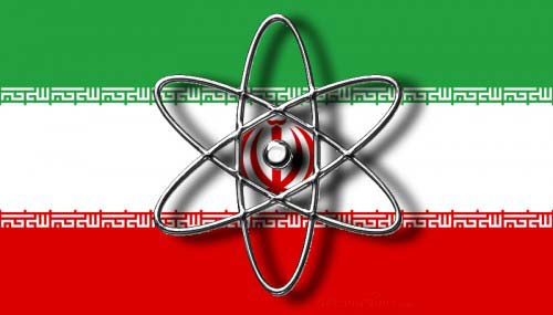 Nuclear Atomic Iran Flag