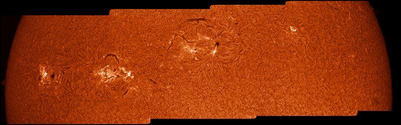 7.30.12 4 frames across Solar disk