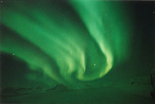 Aurora near the Chukchi Sea