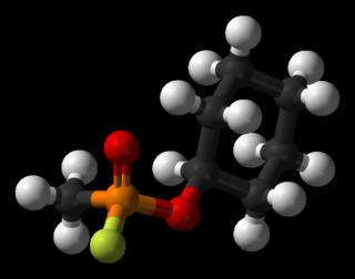 Cyclosarin-3D-balls Cyclohexyl methylphosphonofluoridate chemical weapon