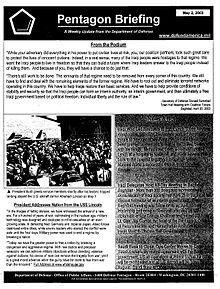 220px-Pentagon_briefing_2003-05-02