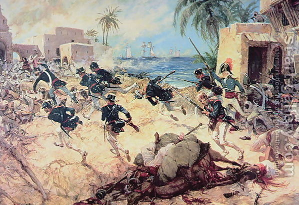 Us-marines-capture-the-barbary-pirate-fortress-at-derna-tripoli-27th-april-1805