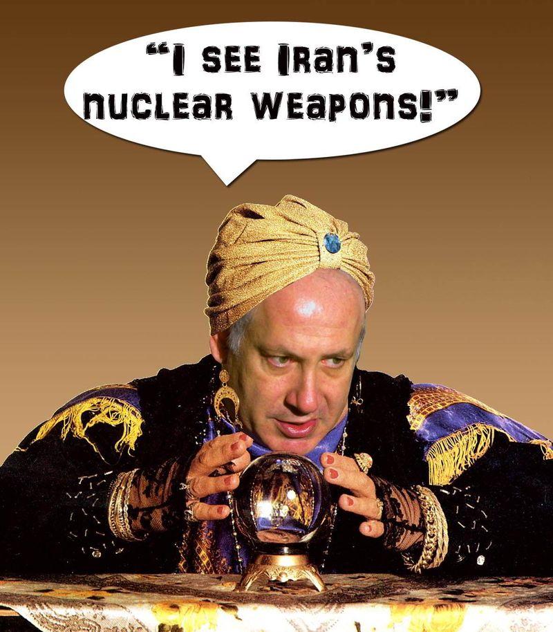 Netanyahu_fortuneteller_nutenyahu_iran_nuclear_weapon