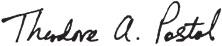 Postol Signature