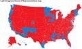 2014 Election Map by Congressional District