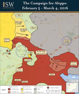Regime Campaign - Aleppo MAR 2016-01