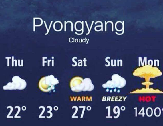 NK weather report