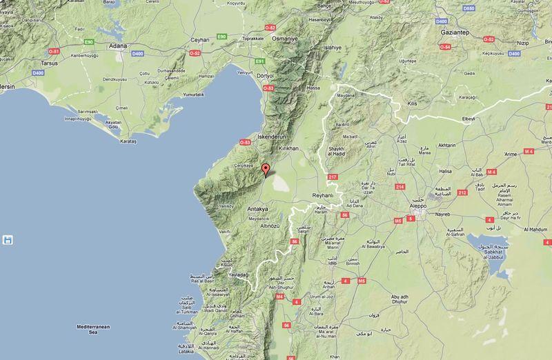 Antakya_terrain_map