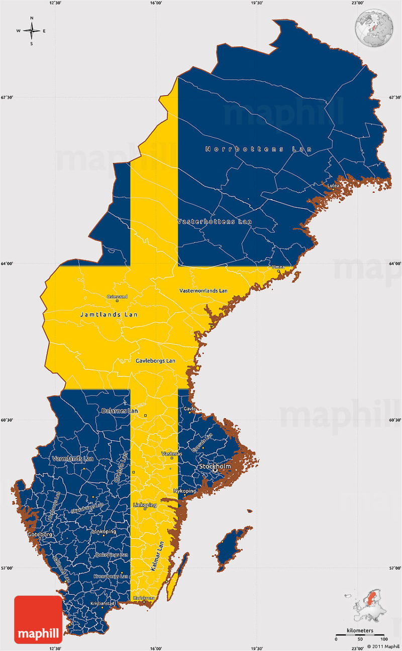 Flag-simple-map-of-sweden