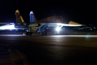 Su-34 night take off