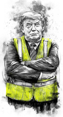 Trump in yellow vest