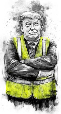 Trump in yellow vest