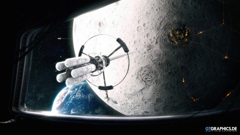 Space-Elevator-on-Moon