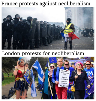 A tale of two protests
