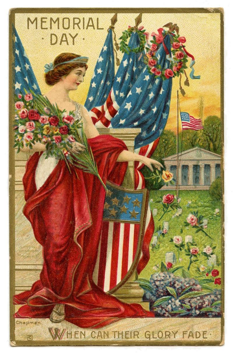 Memorial-Day-Vintage-Postcard-GraphicsFairy