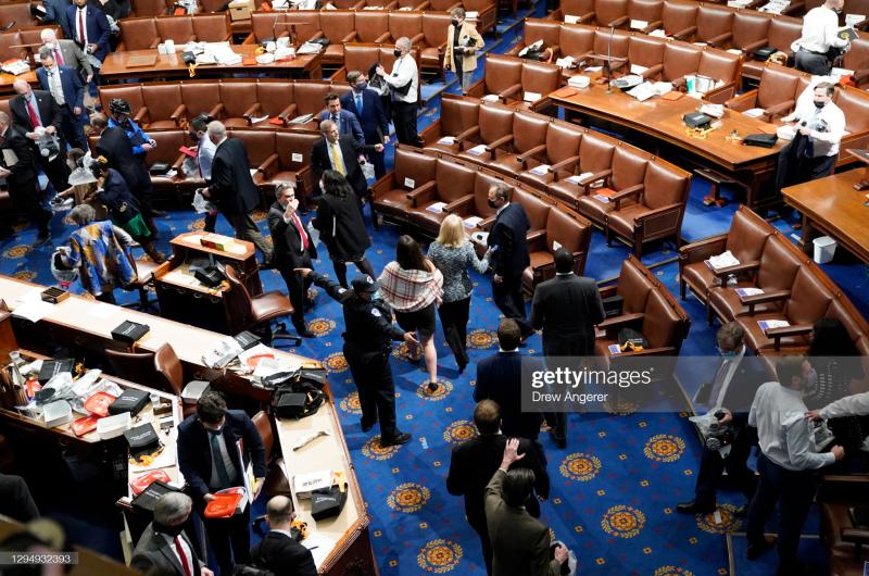 Congress Flees