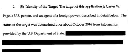 Carter Page blurb from FISA